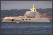"Yacht ""A"" Super yacht anchored in Monterey Bay"
